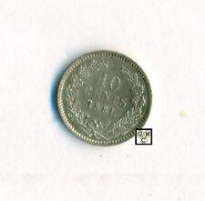 1881 Netherlands 10 Cents Coin CH.  BU. (OOAK)
