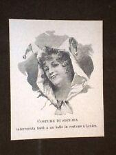Londra Costume da ballo per Signora Anno 1898 Inghilterra