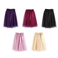 Women 3 Layer Tutu Skirt Tulle Skirt Adult Tutu Prom Ball A-line Gown Mini Dress