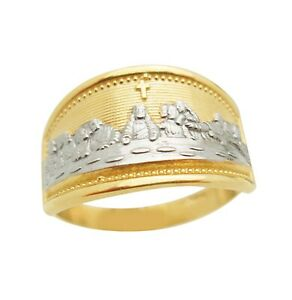 10K Yellow Gold Last Supper Ring Size 8