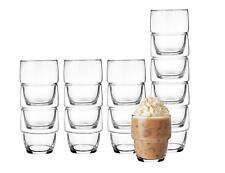6 Stapelbare Cappuccino Gläser 250ml Set + 6 Löffel Kaffeegläser Trinkgläser