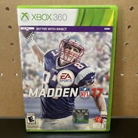 Madden NFL 17 (Microsoft Xbox 360, 2016) TESTED! AUTHENTIC! RARE!