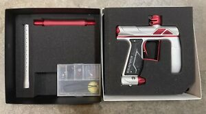 Empire Axe Pro Paintball Gun Dust Silver/Red NM Condition!