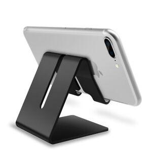 Universal Aluminum Alloy Phone Holder Desk Tablet Stand For iPad iPhone Samsung