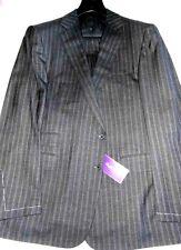 $4995 NWT 44 eu54 R PURPLE LABEL Ralph Lauren GRAY variegated stripes wool suit