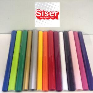 "SISER EasyWeed Heat Transfer Vinyl Tshirt /Textile HTV 12"" x 12"" 14 colors"