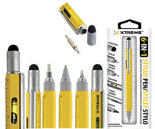 Xtreme 6 in 1 stylus pen pencil level Stylus Flathead Pen screwdriver Ruler NR