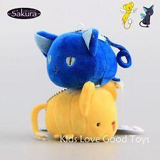2X Card Captor Sakura Kero & Spinel Cosplay Mini Plush Doll Soft Toy 8cm Pendant