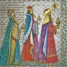 4 x single PAPER NAPKINS MERRY CHRISTMAS Three Kings DECOUPAGE  CRAFTING -100