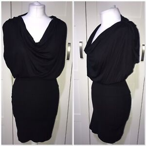* Zara Black Bodycon Dress Party Occasion Work Career Ruched