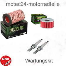 Kit de mantenimiento honda CB 450 s tipo pc17 86 - 89 filtro de aire filtro aceite bujías