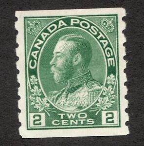 #128  Canada Admiral 1922 - 2 Cent stamp MH DG  -  VF - superfleas