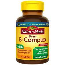 Complejo B con Vitamina C y Zinc Nature Made 80 Tabletas.