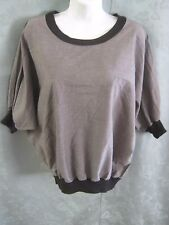 American Apparel Dolman Sleeve Top One Size Fits Most S, M, L, Ribbed Knit Trim