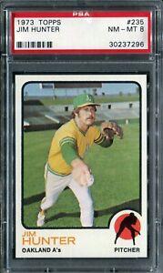1973 Topps #235 Jim Hunter PSA 8 NM-MT