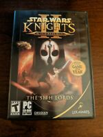 Star Wars Knights Of The Old Republic The Sith Lords PC Game CIB