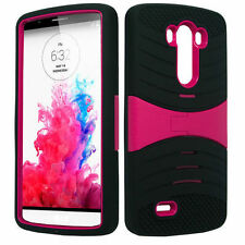 ARMOR BLK/PINK Ucase Phone Case Cover For LG G3 / D855 D850 VS985 D851 LS990