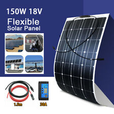 150W 18V Semi-Flexible Solar Panel Kit with Controller For RV Boat Laptop Charge