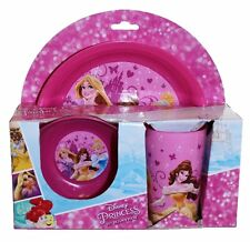 Kids Plastic Disney Boys Girls Meal Breakfast Lunch Dinner Bowl Cup Plate Set