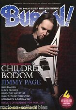 Burrn! Heavy Metal Magazine April 2008 Japan Children of Bodom Loudness