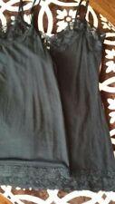 Lot of 2 lack ami, size M, Jockey & Charlotte Russe Lace Trim Adjustable Straps