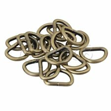 20pcs Metal D Ring Buckle D-Rings 2.5cm Inside Diameter Bags Belt Straps
