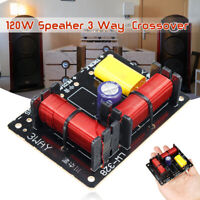 Audio Speaker Frequency Divider 120W Treble Bass 3 Way Crossover Filter 3800hz