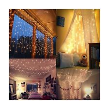 Twinkle Star 600 LED Window Curtain String Light for Wedding Party (Warm White)