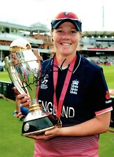 Anya SHRUBSOLE Signed Autograph 16x12 ENGLAND Womens Cricket Photo AFTAL COA