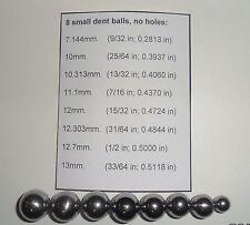 Lot of 8 Trumpet Slide small Dent Balls (For repair brass music instruments)