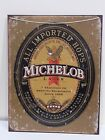 """ANHEUSER BUSCH MICHELOB BEER TIN BEER SIGN RUSTIC STYLE 12"""" × 16"""""""