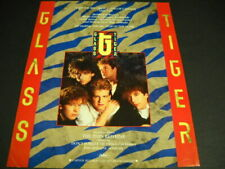 GLASS TIGER 1986 is the Year Of The Tiger with THIN RED LINE Promo Poster Ad