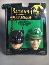 1995 BATMAN & RIDDLER Walkie Talkies w/ Sound Effects in Original Package WORKS!