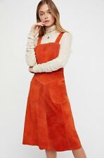 NEW Free People Suede Apron Dress Size 6 Whiskey