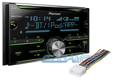 NEW PIONEER DOUBLE 2 DIN CAR STEREO RADIO BLUETOOTH W/ AUX INPUT AND INSTALL KIT