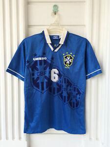 Original Umbro Brazil Away 1994-97 World Cup USA Camisa Shirt #6 ROBERTO CARLOS