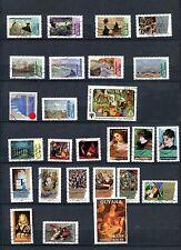 Lot de 26  timbres oblitérés sur la PEINTURE, différents formats TTBE