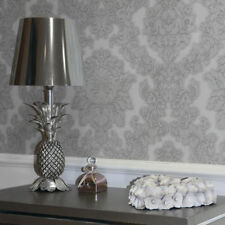Bedroom Damask Vinyl Coated Wallpaper Rolls & Sheets
