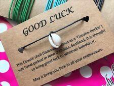 Stocking Filler / Unisex Good Luck Message Cowrie Beach Bracelet Natural Shell