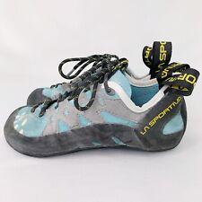 La Sportiva 10Q TarantuLace Performance Rock Climbing Shoe, Turquoise Sz 4