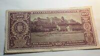 HONGRIE BILLET 100 PENGO BUDAPEST 1945