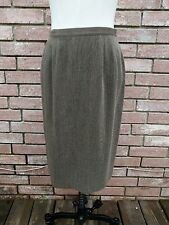 Vintage Hiroko Koshino Pret a Porter Brown Black Pebbled Pencil Skirt Size 11
