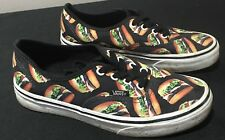 Vans Late Night Burgers Off The Wall Size Mens 5.5 Womens 7 EUR 37