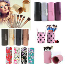 Faux Leather Makeup Brush Pen Holder Storage Cup Case Empty Box Organizer Travel