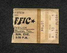 Original 1974 Traffic Concert Ticket Stub Houston Texas Steve Winwood