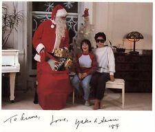 YOKO ONO Hand Signed 1984 Christmas Card - UACC RD#289
