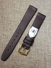 16mm BLACK STRAP Genuine HIRSCH POLAR LEATHER Vintage WATCH BAND  water 100m NEW