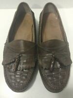 Bass Mens Tassel Slip On Loafer Casual Shoes Brown Size 9