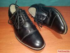 Giorgio Venturi 5300 Black Oxford Italian Mens Dress Shoes size US 7.5
