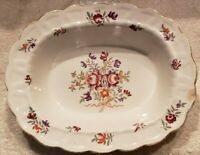 """BOOTHS CHINA, ENGLAND, """"LOWESTOFT"""" OVAL 10"""" X 8"""" SERVING BOWL, FLORAL SPRAYS"""